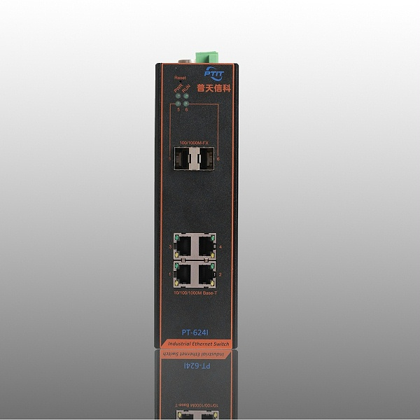 2光4电工业交换机
